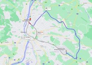 Percorso Aeroporto Hercules Budapest 2020