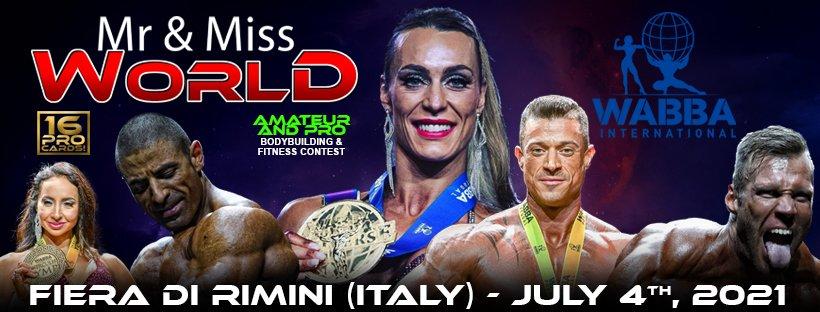 Banner Campionato del mondo WABBA International 2021 (Rimini)