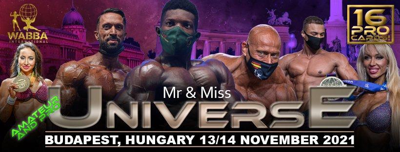 Banner Mr Universe 2021